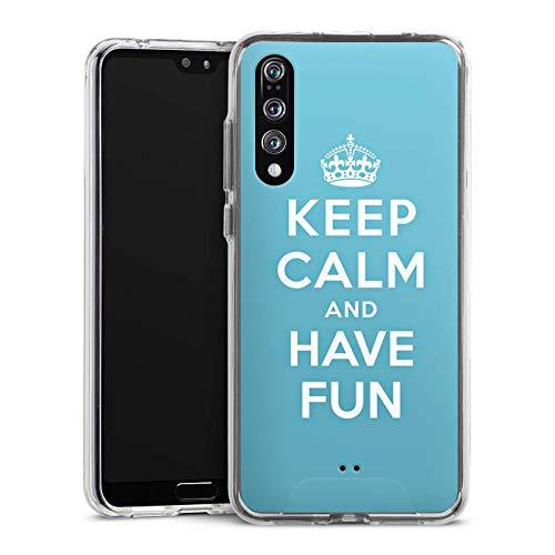 DeinDesign Huawei P20 Pro Handyhülle Bumper Case Schutzhülle Keep Calm Fun Spass