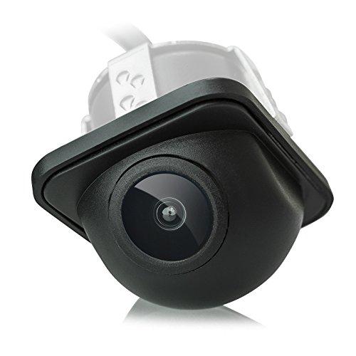 XOMAX XM-012 Micro Farbbild Rückfahrkamera + Weitwinkel 170 Grad + Wasserfest, Staubdicht + 0,3 LUX + PAL + 648 x 488 Pixel + Einfache Installation