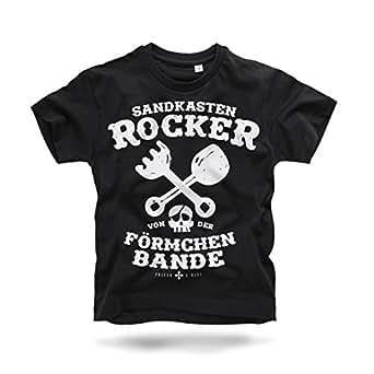 Sandkastenrocker T-Shirt für Kinder Rundhals Kurzarm Jungen 2 bis 12 Jahre Size 1-2 J