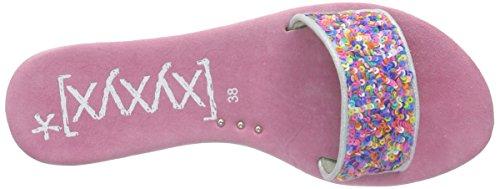 xyxyx Sandale, Sandali Donna Rosa (Pink (sky blue))