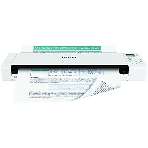Brother DS920DW - Escáner portátil de documentos A4 a doble cara en color (WiFi, batería y tarjeta