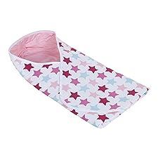 LITTLE DUTCH 3061 Wickeltuch Mixed Stars Pink Größe: 108 x 95 cm