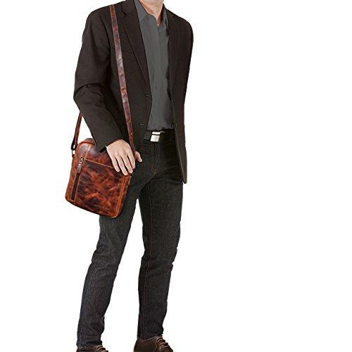 2de796579d5 STILORD  Quentin  Petit Sac à Bandoulière pour Homme 10.1 Pouces Porté  Epaule en Cuir Besace Design Vintage