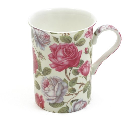 Maxwell & Williams S568462 Royal Old England Becher, Kaffeebecher, Tasse, Motiv: Teerose, in Geschenkbox, Porzellan