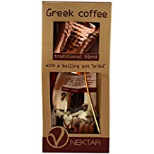 Nektar Greek Coffee Traditional Blend 250gr with a Boiling Pot '' BRIKI''