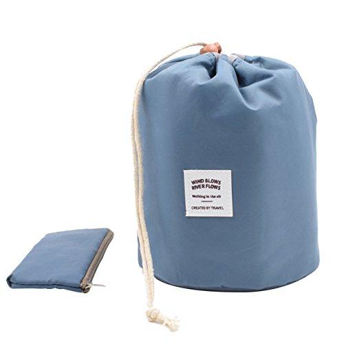 Kosmetik Tasche Pinsel-set (TKSTAR Premium Wasserdichte tragbare Reise Make-up Tasche / Make-up Pinsel Sets / Kosmetik Künstler Organizer Kit eldbeutel Beutel Mehrfarbig Tasche CB01 (Navy Blau))