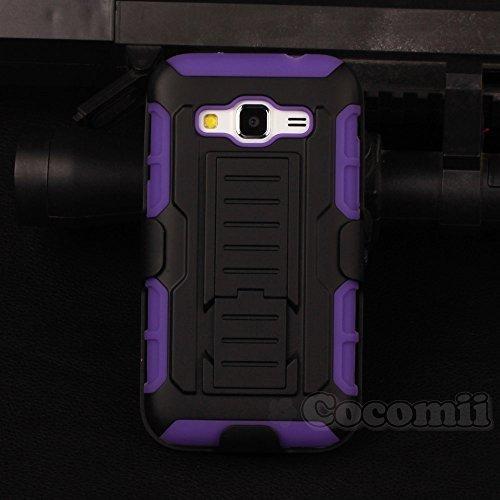 Cocomii Robot Armor Galaxy Core Prime/Win 2/Prevail Hülle [Strapazierfähig] Gürtelclip Ständer Stoßfest Gehäuse [Heer Verteidiger] Case Schutzhülle for Samsung Galaxy Core Prime (R.Purple)
