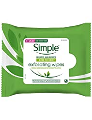 Simple Kind to Skin Exfoliating Facial Wipes 25 Wipes (Pack of 6 - 150 Wipes)