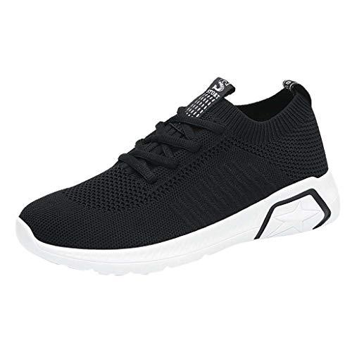 Preisvergleich Produktbild Damen Sportschuhe Slip Ons Strick Freizeitschuhe Laufschuhe Weiche Turnschuhe Atmungsaktiv Loafers Low-Top Sneaker Sommer Flache Socks Schuhe (EU:40,  Schwarz)