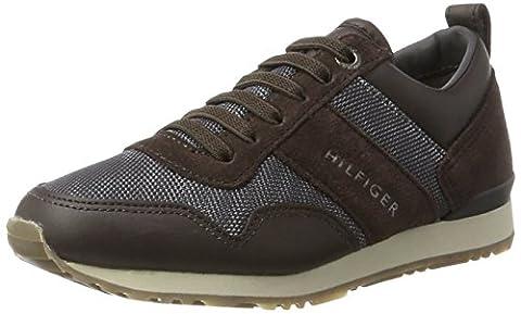 Tommy Hilfiger Jungen M3285AXWELL JR 11C6 Sneaker, Braun (Coffee Bean-Steel