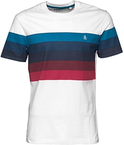 mens-everyday-casual-striped-t-shirt-top-medium-chest-37-39-white-navy-red-dark-blue-burgundy