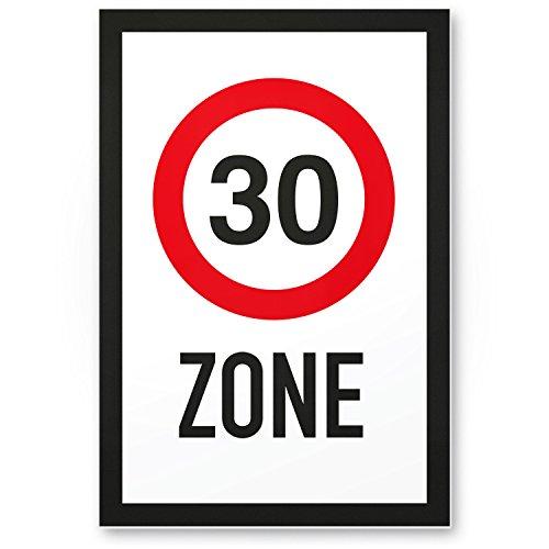DankeDir! 30 Zone - Kunststoff Schild, Geschenk 30. Geburtstag, Geschenkidee Geburtstagsgeschenk Dreißigsten, Geburtstagsdeko/Partydeko/Party Zubehör/Geburtstagskarte