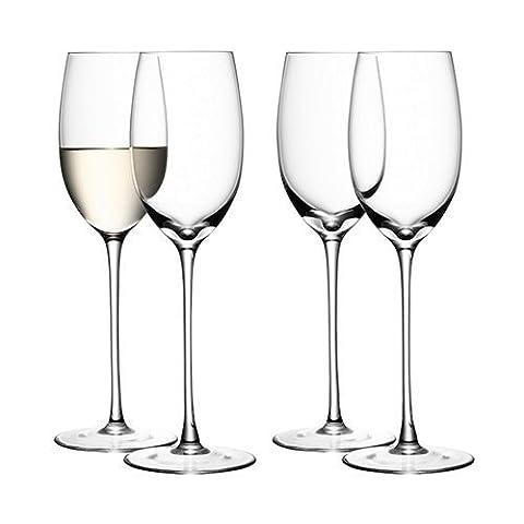 LSA International 340 ml Wine White Glass, Clear (Pack of 4)