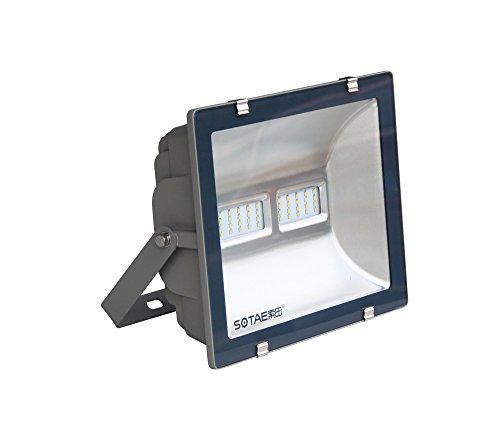 Proiettore a LED per installazione esterna, Proiettore a LED per illuminazione esterna - - impermeabile IP 65 - alluminio - grigio - 120 W - 5700K bianco freddo
