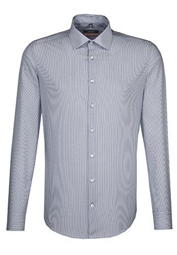 Seidensticker Slim Langarm MIT Kent Kragen Bügelfrei, Camicia Business Uomo Blu (Blau 16)