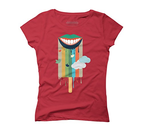 summer ice cream Women's Graphic T-Shirt - Design By Humans Red