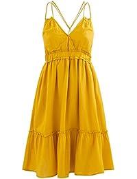 Promod Kleid mit Volant-Saum