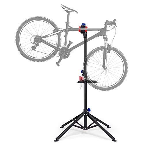 KUOKEL Fahrradmontageständer Reparaturständer mit Werkzeugablage klappbar und höhenverstellbar für Fahrräder belastbar bis 30kg