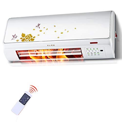 Riscaldatore ceramico da parete piccolo desktop, schermo digitale, temporizzazione automatica della temperatura costante, con telecomando, riscaldamento del bagno a tenuta stagna 2000W