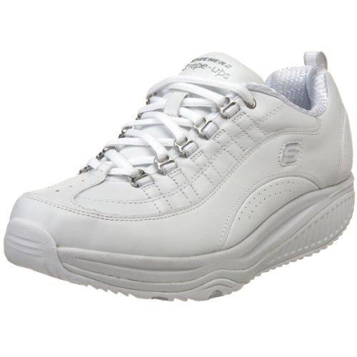 Damen Skechers Shape (Skechers Shape-ups XF Energy Blast 12321 W, Damen Sneaker, Weiss (W), EU 41)