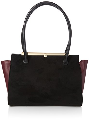 Dorothy-Perkins-Womens-Bar-Top-Tote-Black-Black
