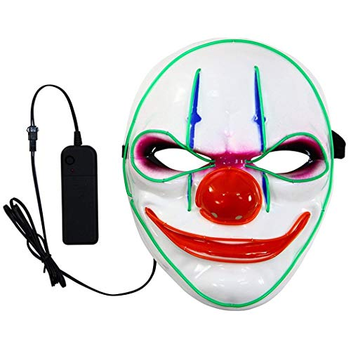 Ziemlich Kostüm Clown - Beautytalk LED Maske mit Blitzmodi für Halloween Fasching Karneval Party Kostüm Cosplay Dekoration