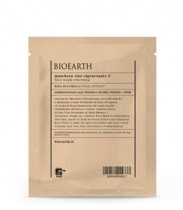 BIOEARTH - Regenerierende Gesichtsmaske in pflanzlicher Zellulose - Intensive Treatment Toning-Aktion - Für müde und dehydrierte Haut - mit Schneckenschleim - AIAB zertifiziert - Nickel getestet - 15 ml (Maske Intensive Aufhellung)