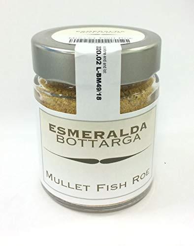 Esmeralda Bottarga rallada en tarro de 70 g - Caviar mediterráneo - (Huevas de salmonete secas) Captura salvaje kosher del...
