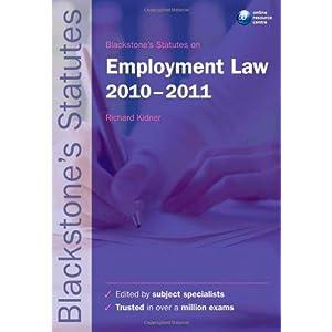 Blackstone's Statutes on Employment Law 2010-2011 (Blackstone's Statute Series) (Paperback)