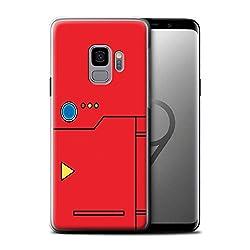 Stuff4® Gel TPU Hülle/Case für Samsung Galaxy S9/G960/Rot Muster/Anime Cartoon Kodex Kollektion