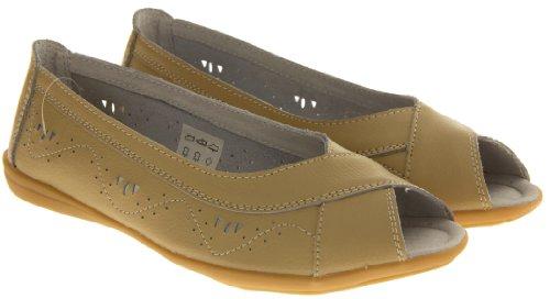 Footwear Studio, Ballerine donna beige/berry/black/blue/navy blue/pink/white Beige (beige)