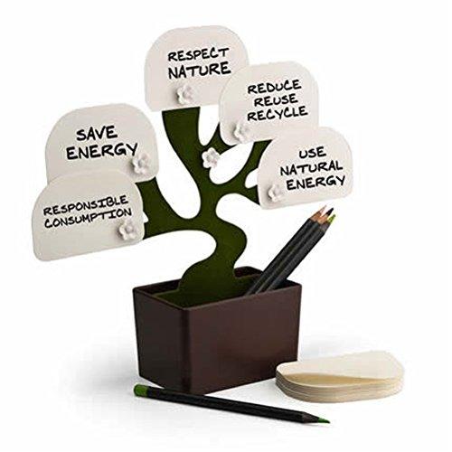 Notizzettel-Halterung, Baum-Design, für den Schreibtisch, Bonsai-Design, für Haftnotizen, Halterung / Ständer, mit Stifthalter / Aufbewahrungsbox