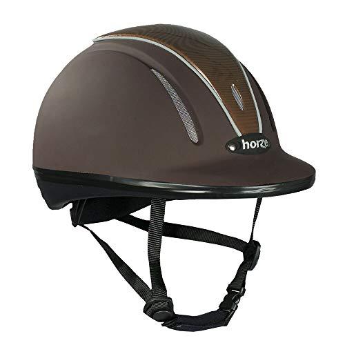 horze Pacific Reithelm Verstellbarer Helm VG1 Defenze, Braun/Braun(BR/BR), S-M