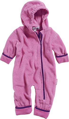 Playshoes Unisex Baby Fleece-Overall Farblich Abgesetzt, Rosa (Pink 18), 86