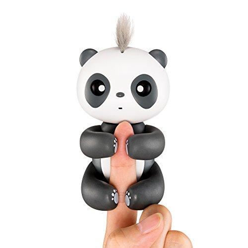 Interaktives Finger Baby Panda Spielzeug–Fun und Cute Aufhängen Handpuppe–Smart Baby Panda Pet Spielzeug für Kinder und Kids–2018Best Christmas Geschenk schwarz schwarz