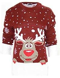 0bfd30ca44009 CELEB LOOK celeblook B78 Celebmodelook Enfants garçons Filles tricoté Rétro  NOËL Fantaisie Pull Noël 3…