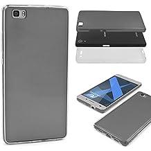 Urcover® Huawei P8 Lite | Funda Carcasa 360 Grados Ultra Slim Metálico | TPU en Negro | Case Cover Protección completa Smartphone Móvil Accesorio