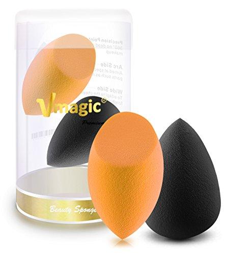 VMAGIC éponge de qualité premium Maquillage Beauté éponge blender Fond de teint éponge Maquillage blender pour applicateur, fond de teint et Surligneur