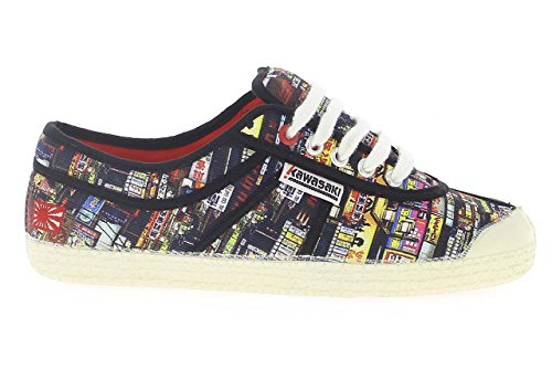 Kawasaki - Basic Shoe, - Unisex - Adulto Nero/Multicolore