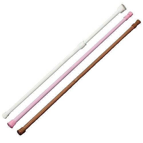 YSoutstripdu Extendable Telescopic Tension Curtain Shower Hanger Toilet Closet Hanging Rod - Wood Color/Pink/White 60-110cm/40-75cm - Hanging Vorhang Rod