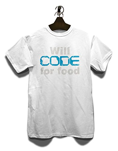 Will Code For Food Vintage T-Shirt Weiß