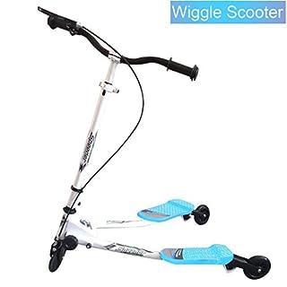 Wiggle Scooter for Kids Age 5+, 3 Wheels Push Swing Scooter Foldable Speeder Tri Slider Kickboard (UK STOCK)