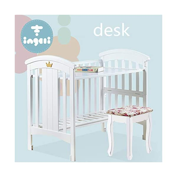 KLI Newborn Infant Crib Solid Harmless Paint Wood Baby Cradle Rocking Bed With Mattress,120 * 68 * 100Cm KLI Shipping list : crib,mat Size:120*68*100cm. Natural pine wood, harmless paint, polished and smooth, environmental wood, good for your baby 3 grade height adjustment: grade 1 (52cm from the floor)can be used for baby in 0-6 month, convenient to take out baby; grade 2 (38cm from the floor) for baby in 6-12 months and can stand independently;grade 3 (22cm from the floor) for baby in 1-3 years old. 5