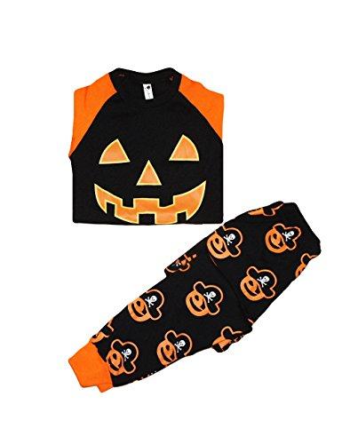 Little Hand Baby Kinder Jungen Halloween Kürbis Bekleidungs kostüm Langarm (Baby Elvis Kostüm Presley)