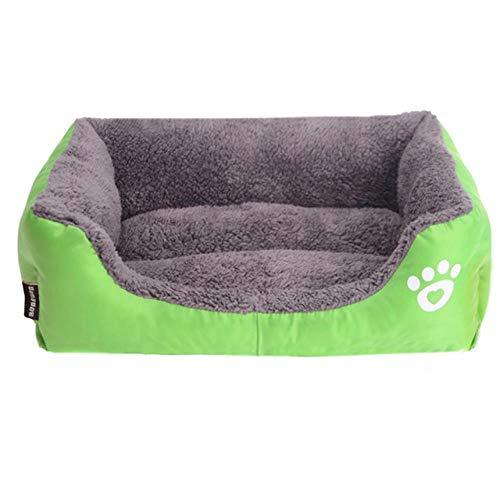 AdronQ Hundebett Für Kleine Mittlere Große Hunde Haustier Hundehütte wasserdichte Unterseite Weiche Warme HauskatzeHundebett11 Farben S-3XLB XXXL