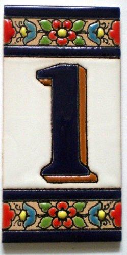 Spanische Hausnummern und Buchstaben aus Keramik - Fliesen / mediterranes Flair, Azulejos - 1