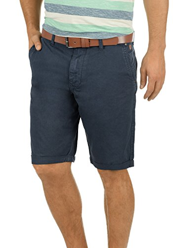 BLEND Clemens Herren Chino-Shorts kurze Hose Business-Shorts aus 100% Baumwolle Navy (70230)