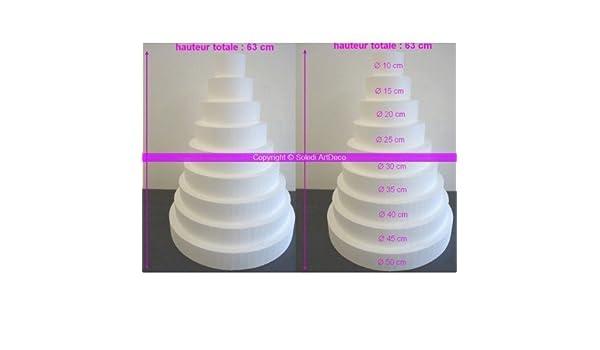 hoher Dichte Mehrst/öckige Wedding Cake XXL 90 cm