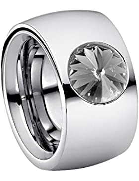Heideman Damen-Ring coma 14 poliert Swarovski kristallemedium 10mm Ringe mit Stein Zirkonia Edelstein Edelstahl...