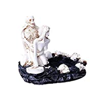 WYBFBYQ Resin Ashtray, Gothic Death & Love Cigarette Ashtray, Home Office Decorations 13×12×11 cm,Type1